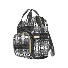 Writing on Stone Black and White Multi-Function Diaper Backpack (Model 1688) Diaper Backpack (1688) e-joyer