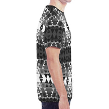 Writing on Stone Black and White New All Over Print T-shirt for Men/Large Size (Model T45) New All Over Print T-shirt for Men/Large (T45) e-joyer