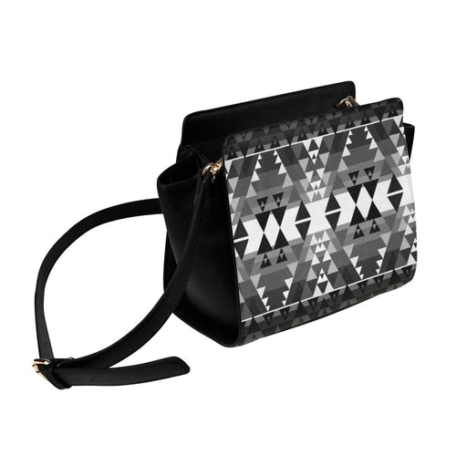 Writing on Stone Black and White Satchel Bag (Model 1635) Satchel Bag (1635) e-joyer