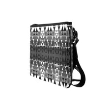 Writing on Stone Black and White Slim Clutch Bag (Model 1668) Slim Clutch Bags (1668) e-joyer