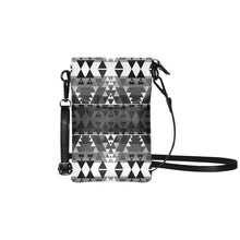 Writing on Stone Black and White Small Cell Phone Purse (Model 1711) Small Cell Phone Purse (1711) e-joyer