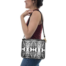 Writing on Stone Black and White Small Shoulder Bag (Model 1710) Small Shoulder Bag (1710) e-joyer