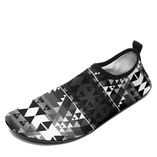 Writing on Stone Black and White Sockamoccs Slip On Shoes 49 Dzine