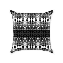 Writing on Stone Black and White Throw Pillows 49 Dzine With Zipper Poly Twill 14x14 inch