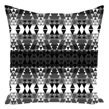 Writing on Stone Black and White Throw Pillows 49 Dzine With Zipper Spun Polyester 16x16 inch