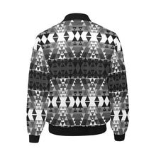 Writing on Stone Black and White Unisex Heavy Bomber Jacket with Quilted Lining All Over Print Quilted Jacket for Men (H33) e-joyer