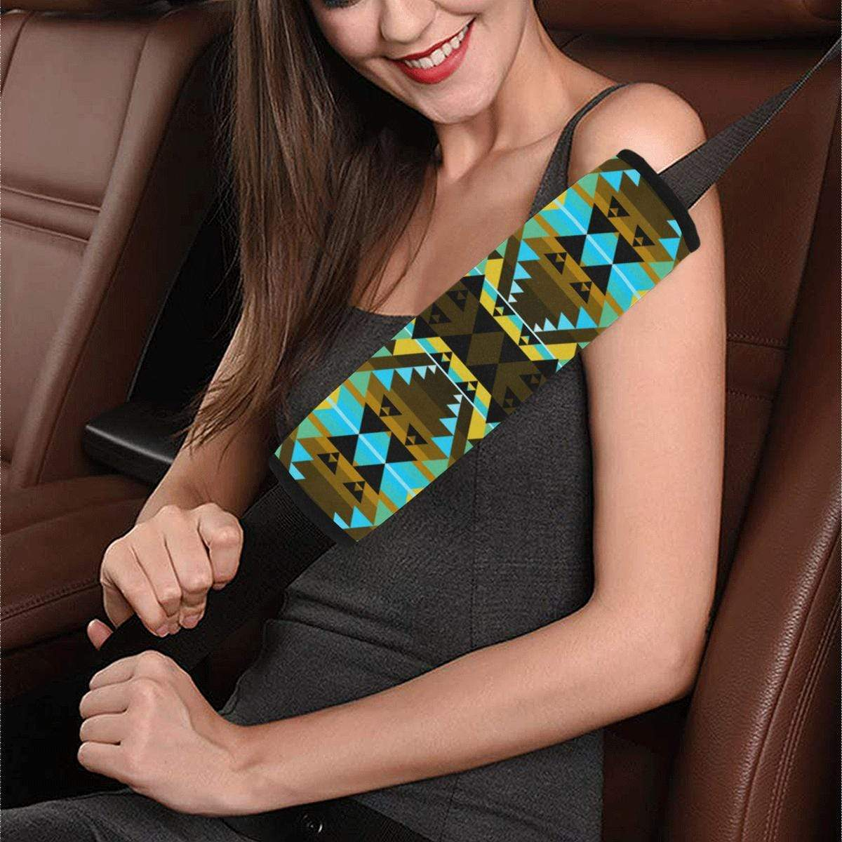 Writing on Stone Broken Lodge Car Seat Belt Cover 7''x12.6'' Car Seat Belt Cover 7''x12.6'' e-joyer