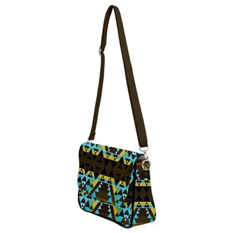 Writing on Stone Broken Lodge Shoulder Bag with Back Zipper 49 Dzine