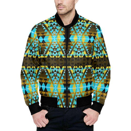 Writing on Stone Broken Lodge Unisex Heavy Bomber Jacket with Quilted Lining All Over Print Quilted Jacket for Men (H33) e-joyer