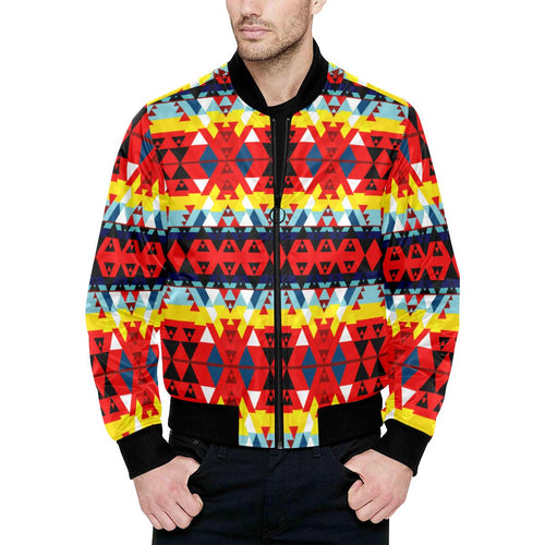Writing on Stone Enemy Retreat Unisex Heavy Bomber Jacket with Quilted Lining All Over Print Quilted Jacket for Men (H33) e-joyer