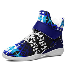 Writing on Stone Night Watch Kid's Ipottaa Basketball / Sport High Top Shoes 49 Dzine US Child 12.5 / EUR 30 White Sole with Blue Strap