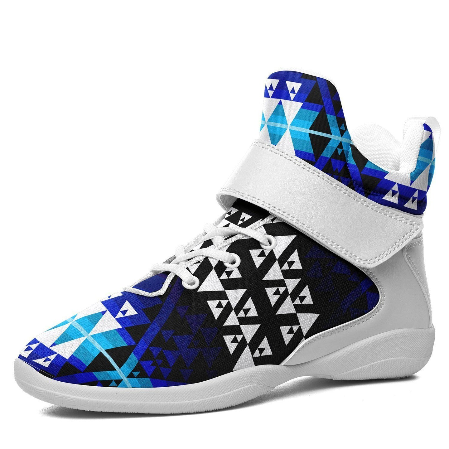 Writing on Stone Night Watch Kid's Ipottaa Basketball / Sport High Top Shoes 49 Dzine US Child 12.5 / EUR 30 White Sole with White Strap