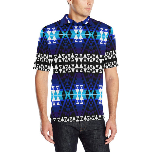 WRiting on Stone Night Watch Men's All Over Print Polo Shirt (Model T55) Men's Polo Shirt (Model T55) e-joyer