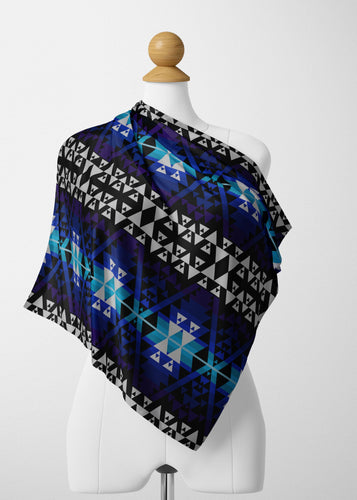 Writing on Stone Night Watch Satin Shawl Scarf 49 Dzine