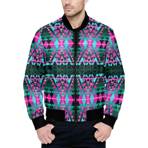 Writing on Stone Sunset Unisex Heavy Bomber Jacket with Quilted Lining All Over Print Quilted Jacket for Men (H33) e-joyer