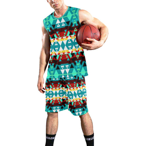 Writing on Stone Wheel All Over Print Basketball Uniform Basketball Uniform e-joyer