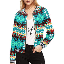 Writing on Stone Wheel All Over Print Bomber Jacket for Women (Model H21) All Over Print Bomber Jacket for Women (H21) e-joyer