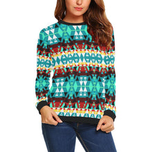 Writing on Stone Wheel All Over Print Crewneck Sweatshirt for Women (Model H18) Crewneck Sweatshirt for Women (H18) e-joyer