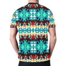 Writing on Stone Wheel New All Over Print T-shirt for Men/Large Size (Model T45) New All Over Print T-shirt for Men/Large (T45) e-joyer