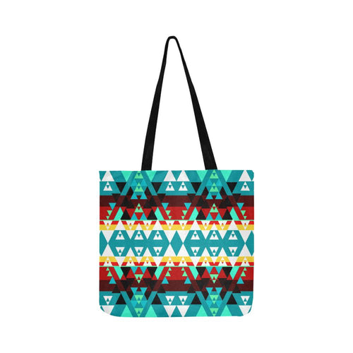 Writing on Stone Wheel Reusable Shopping Bag Model 1660 (Two sides) Shopping Tote Bag (1660) e-joyer