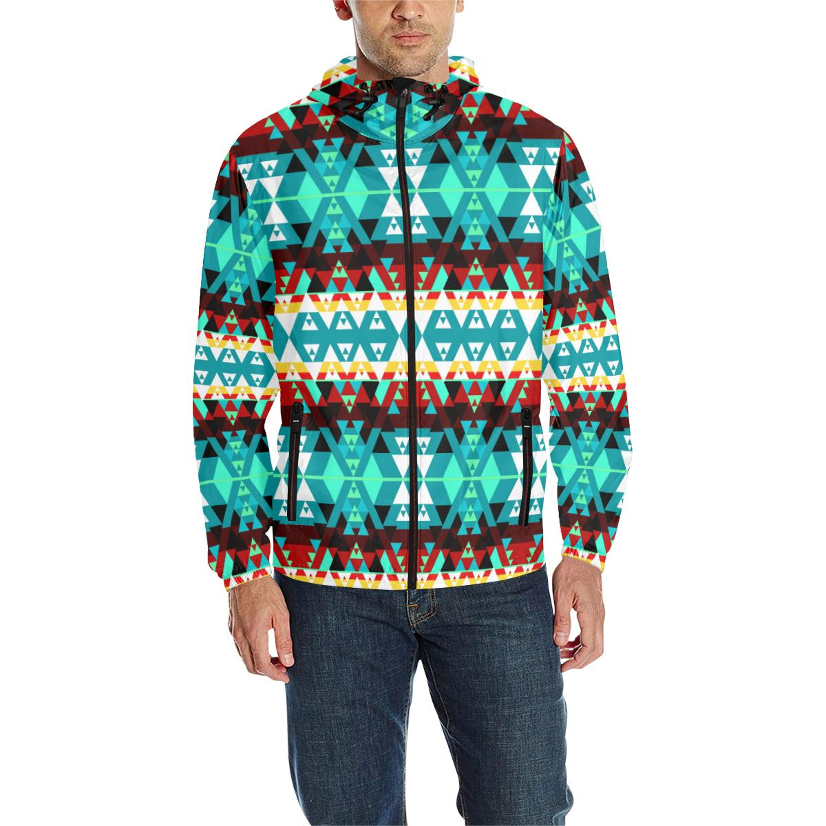 Writing on Stone Wheel Unisex Quilted Coat All Over Print Quilted Windbreaker for Men (H35) e-joyer