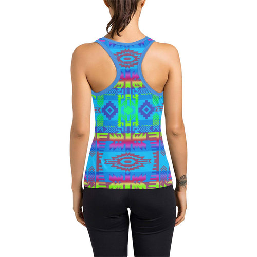 Young Journey Women's Racerback Tank Top (Model T60) Racerback Tank Top (T60) e-joyer