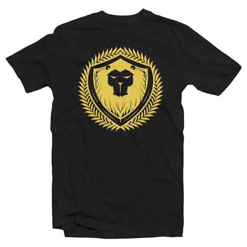 Merciless Athletics Gold on Black Lion Tee