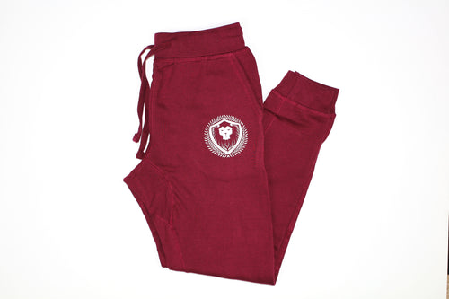 Merciless Athletics fitted Joggers - Maroon