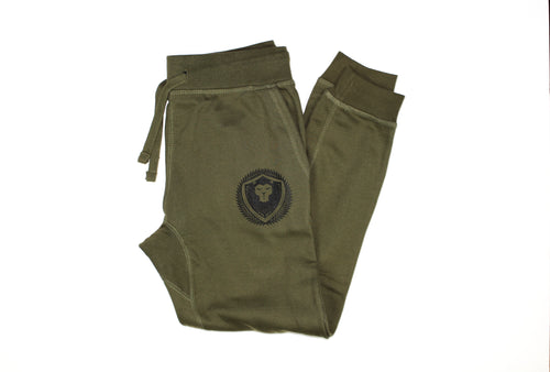 Merciless Athletics fitted Joggers - Military Green
