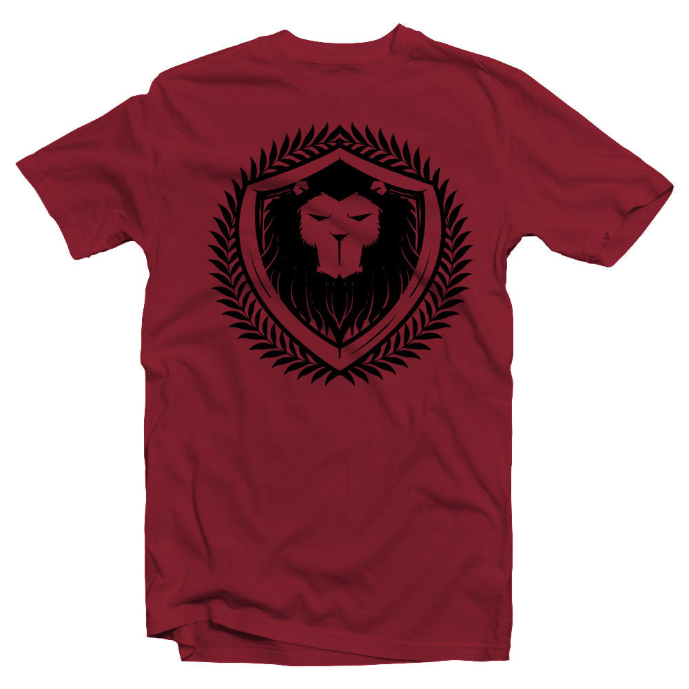 Merciless Athletics Black on Maroon Lion Tee