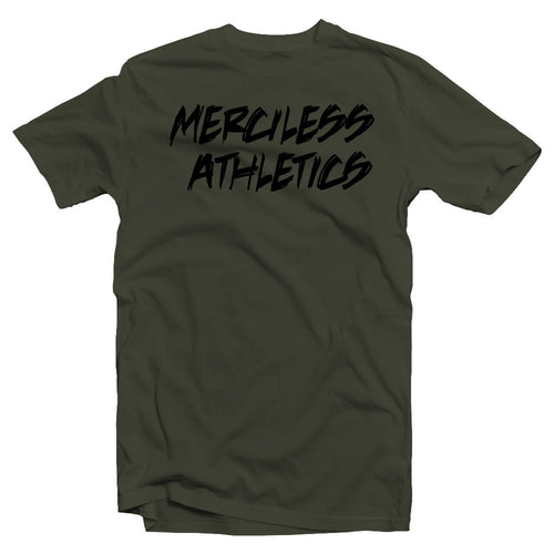 Merciless Athletics Military Green Sketched Shirt