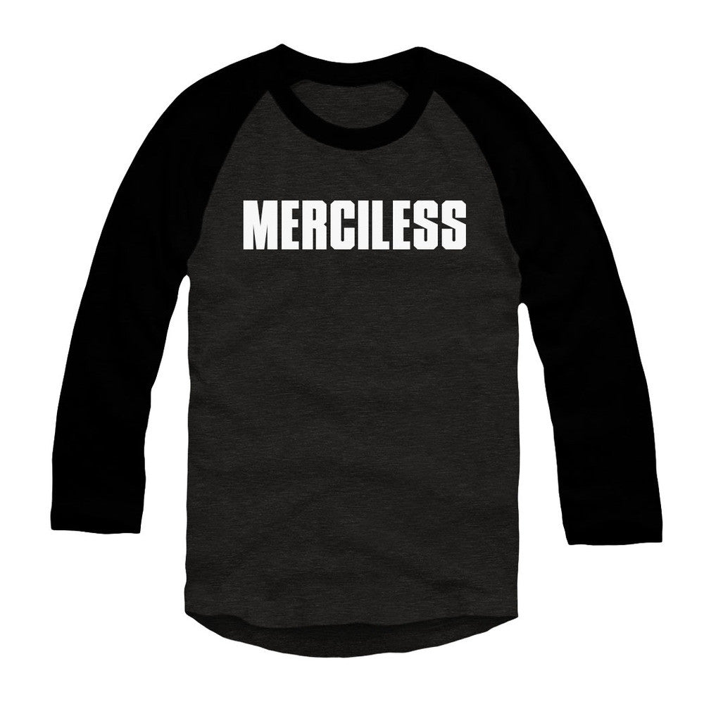 Merciless Athletics Black and Charcoal Merciless 3/4 Sleeve Tee