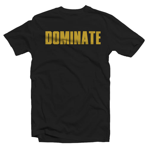 Merciless Athletics Gold on Black Dominate tee