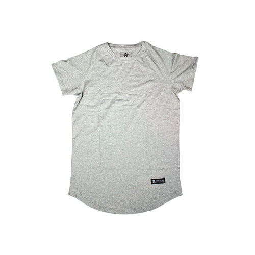 The Merciless Athletics Heather Gray Lifestyle Scoop Bottom tee