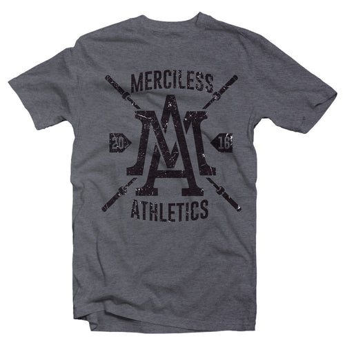 Men's Heather Grey Merciless Athletes Barbell Tee
