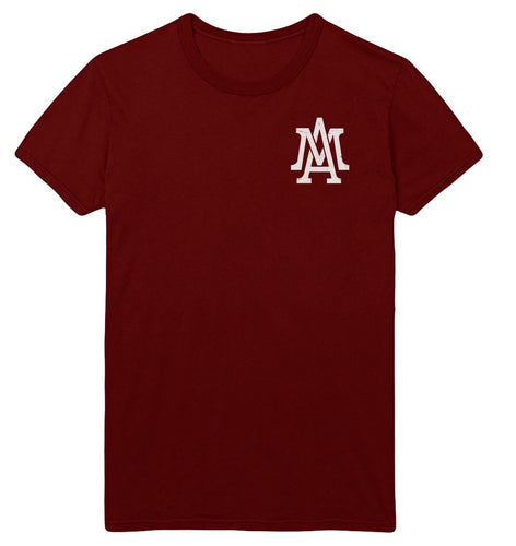 The Lifestyle logo pocket tee - Maroon