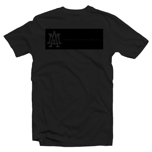 Merciless Athletics Premium Black on Black Lifestyle tee