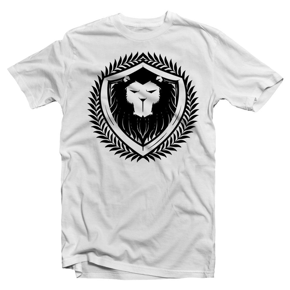 Merciless Athletics Black on White Lion Tee