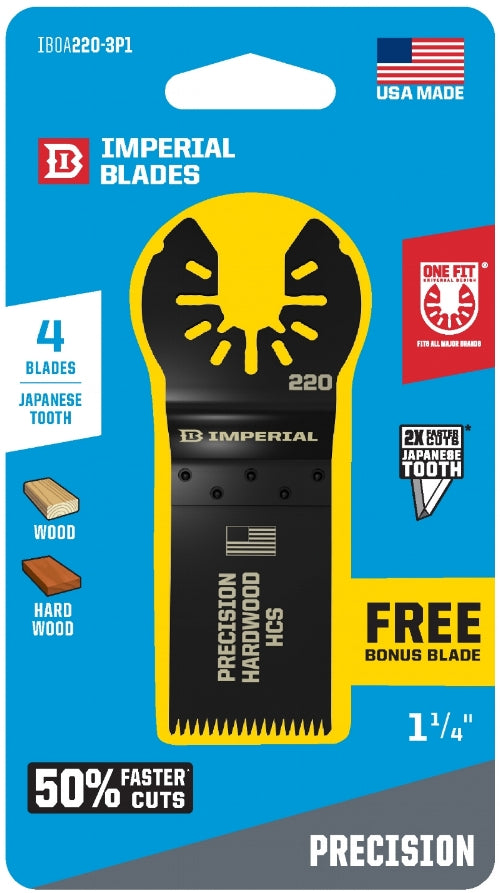 IBOA220 J-Tooth 3+1 Blade Deal (4 Oscillating Blades)