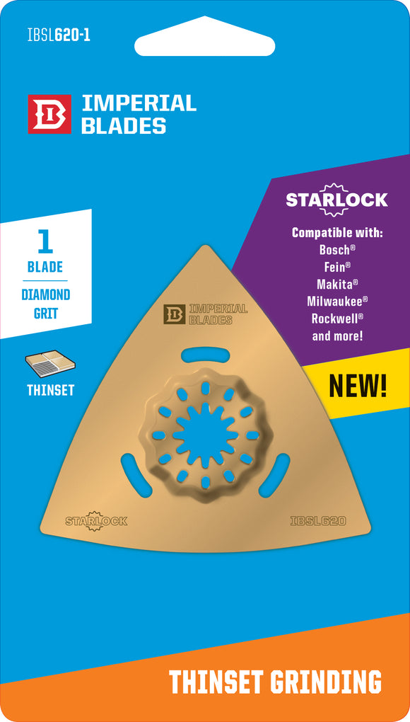 Imperial Blades Starlock Triangle Carbide Grit | Fein & Bosch Starlock Compatible IBSL620