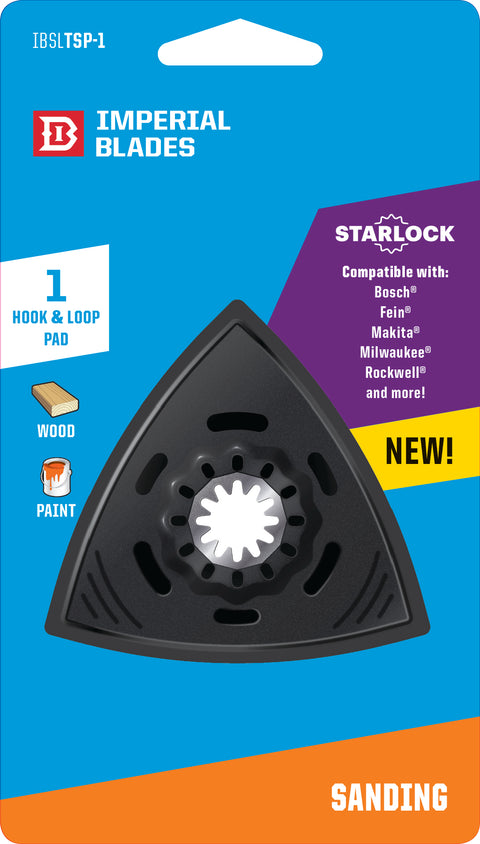 "Imperial Blades Starlock 3-2/3"" Triangle Sanding Pad 