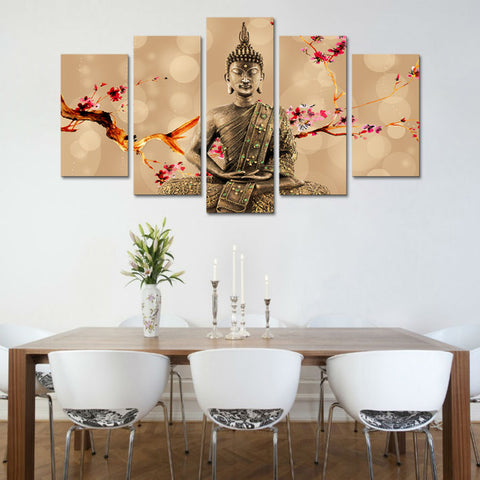 Cherry Plum Buddha Wall Art