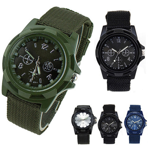 Canvas Belt quartz  Army Wrist Watch - findrly