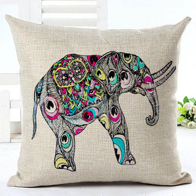 Cute Colorful Indian Elephant Pillowwcase - findrly