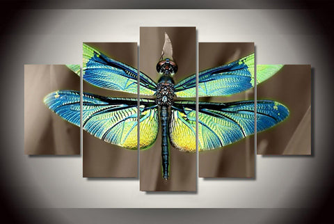 Colored Dragonfly Wall Art - findrly