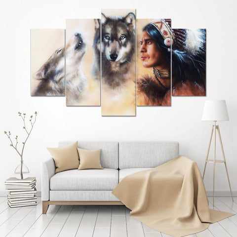 Native Wolfs Wall Art