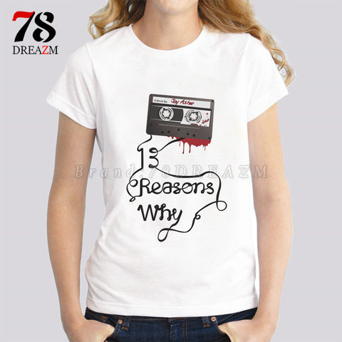 Thirteen 13 Reasons Why female t-shirt - findrly