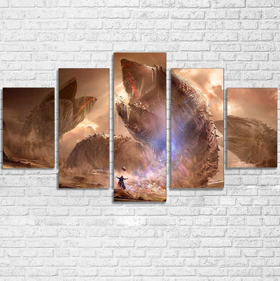 Painting Canvas Wall Art Picture Home Decor Living Room Canvas Print 5 Pieces Movie Cartoon Game Characters Modern Painting