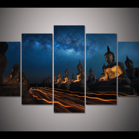 Ancient Buddha Statue Wall Art