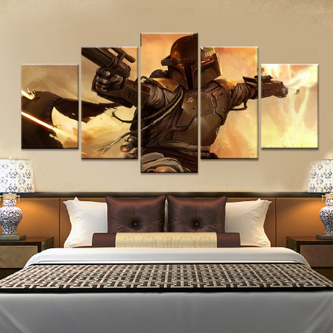 Star Wars Bounty Hunter Wall Art